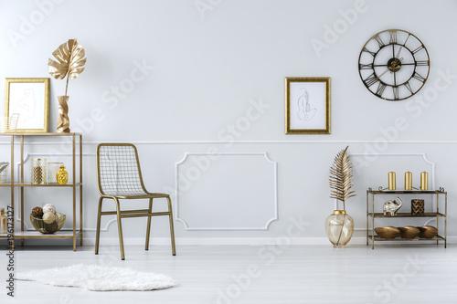 Fotografie, Obraz  Luxurious gold living room interior