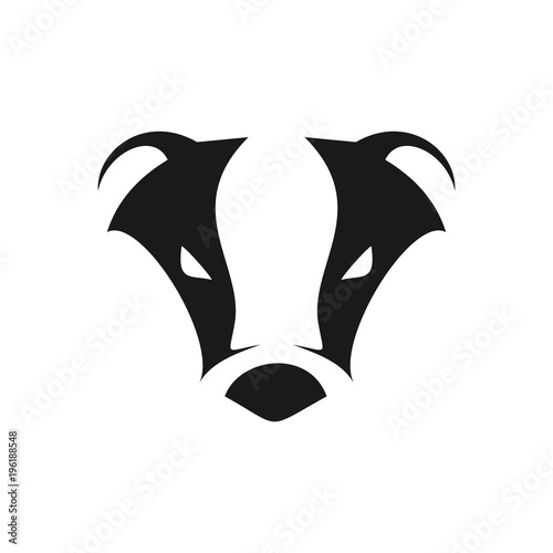 Valokuvatapetti Abstract Cool Badger Head Symbol Logo Design