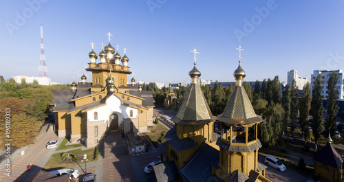 Foto op Canvas Monument Russian wooden Orthodox church.