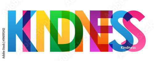 KINDNESS Colourful Letters Icon