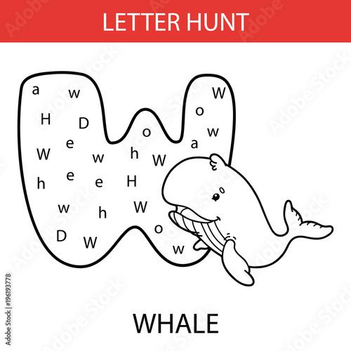 Fotografía  Vector illustration of printable kids alphabet worksheets educational game Lette