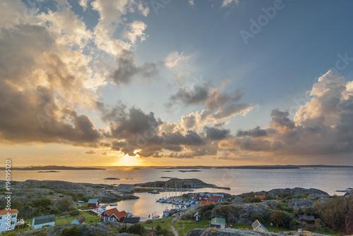 Staande foto Athene Abendstimmung auf der schwedischen Schäreninsel Ramsö,Westschären