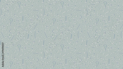 Fototapeta Background of pale green punctuation marks pattern embossed as endless maze on paper