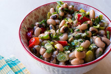 Kidney Bean Salad With Tomatoes, Parsley And Dill / Borulce Salatasi / Salata.