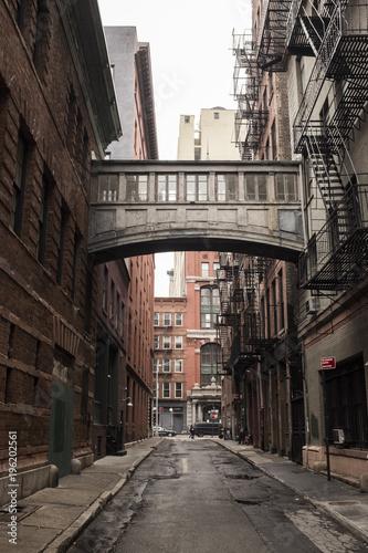 Foto op Plexiglas New York TAXI Sky bridge in New york