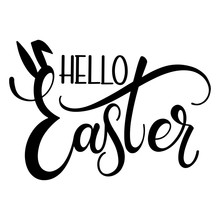 Hello Easter Colorful Letterin...