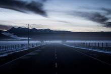 Dark Foggy Road At Crater Lake...