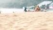 Holidays relax on the beach sand