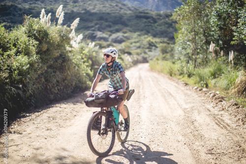 Photo  Hannah Birdsong bikepacks through the Cordillera Blanca in Peru