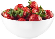 Bowl Of Strawberries - Isolated