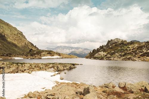Small hills and lake