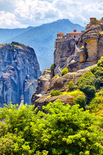 The Great Monastery Of Varlaam On The High Rock In Meteora, Thessaly, Greece