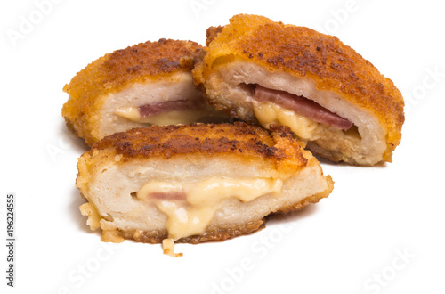 Photo chicken cutlet isolated