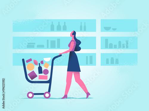 Fotografia, Obraz  Al Supermercato