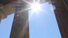 Nashville Parthenon Summer Columns Tilt Up To Sun