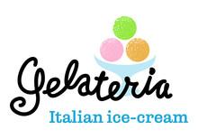 Ice-cream Handwritten Logo Tem...