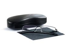 Corrective Eye Glasses On Blac...
