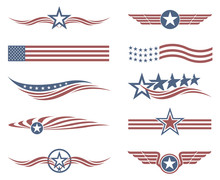 Collection Of USA Star Flag La...