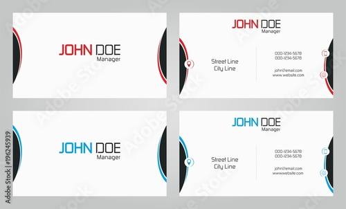 Fototapeta Business card dua color obraz