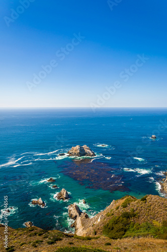 Ocean view from the scenic California Pacific Coast Highway 1 Poster