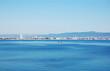 Panoramic view of the coast of the Bulgarian resort of Sunny Beach.