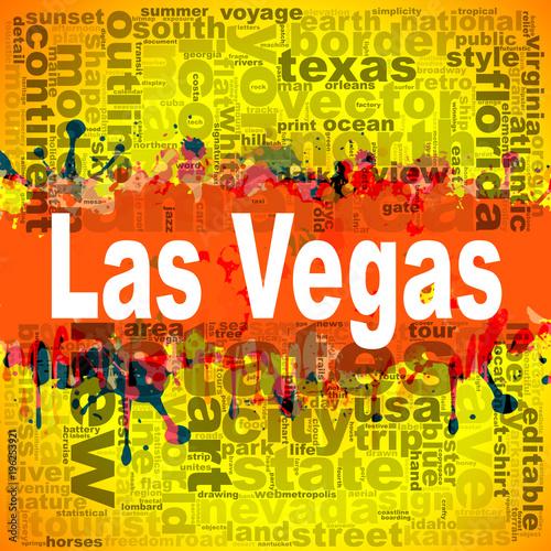 Las Vegas word cloud design Poster