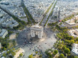Aerial view of Arc de Triomphe