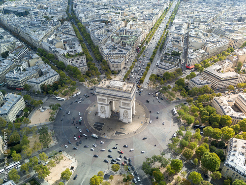 Aerial view of Arc de Triomphe - 196261917