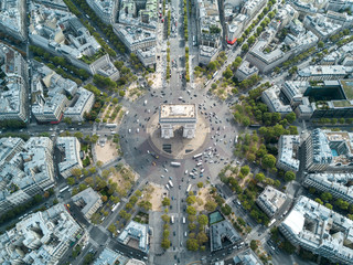 Above Arc De Triomphe in Paris