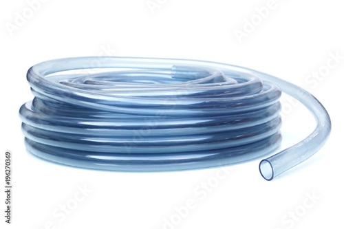 Transparent plastic water hose isolated Wallpaper Mural