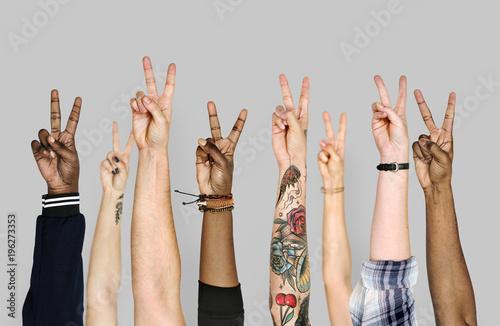 Fotografie, Tablou  Hand gestures isolated