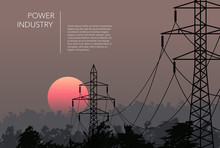 Transmission Towers Landscape ...