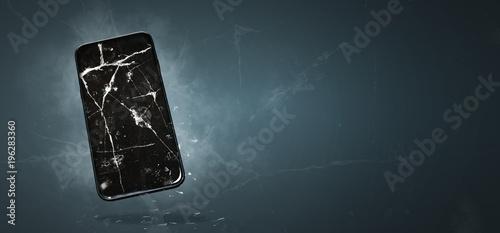 Fényképezés  Smartphone mit  kaputten Display