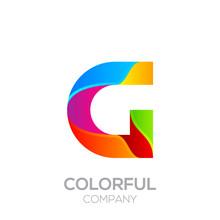 Letter G Logotype Made Of Stri...