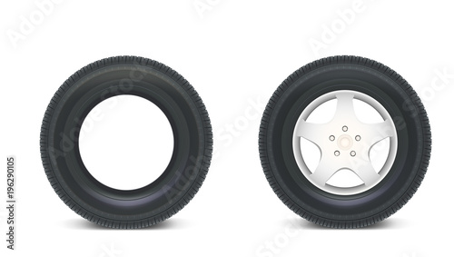Icons Of Car Parts For Garage Auto Services Set Of Automobile