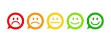 Smiley Sprechblasen 5er Bewertung