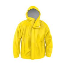 Yellow Rain Coat Isolated