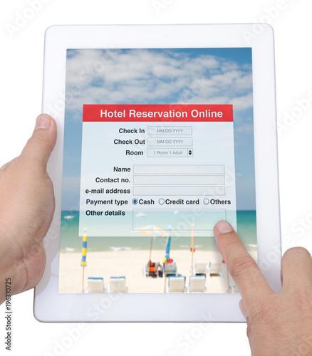 Internet application for hotel reservation online show on