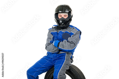 Racing driver Fototapete
