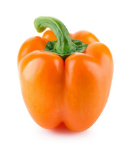 Pepper. Paprika Isolated On Wh...