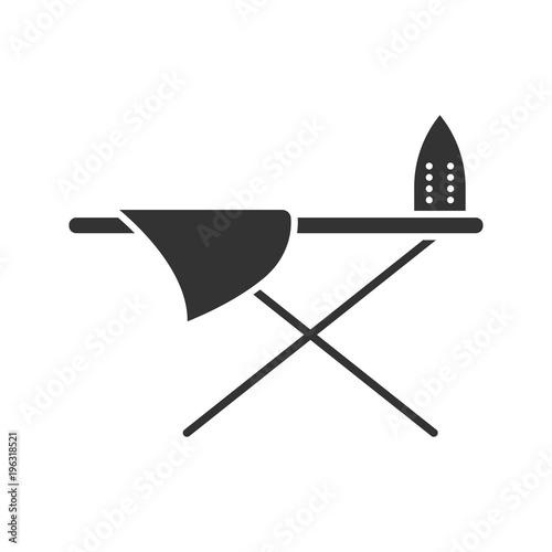 Canvas-taulu Ironing board glyph icon