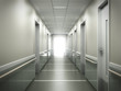 modern medical clinic bright blurred background corridor spacious modern medical facility hospital new 3d render