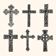 Christian Cross Vintage Line A...