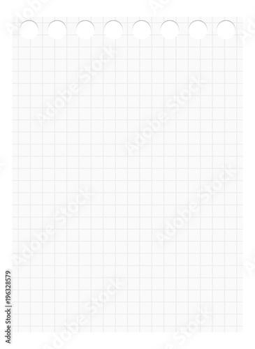 Fotografia, Obraz  Isolierter karierter Zettel für Notizen