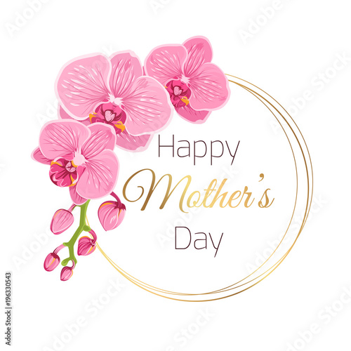 Fotografia, Obraz Happy Mothers Day floral spring card template