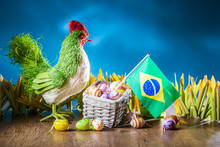 The Feast Of Easter. Chicken W...