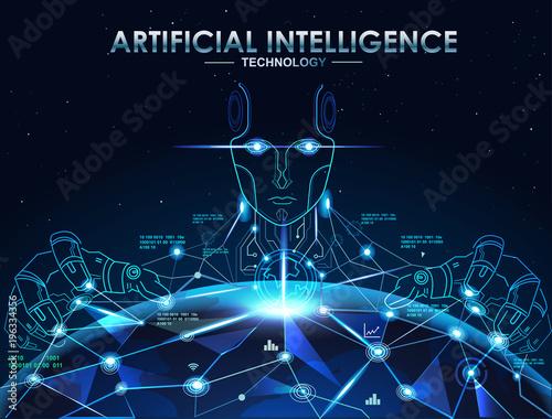 AI(Artificial Intelligence) concept Canvas Print