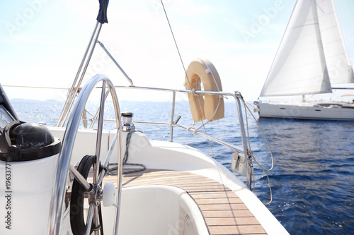 Foto op Canvas Zeilen Sailing in Mediterranean sea, Croatia