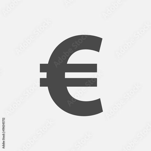 Cuadros en Lienzo Euro currency sign vector icon