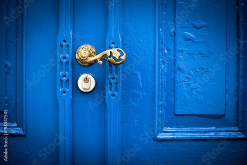 Fotografie, Obraz  Puerta azul antigua